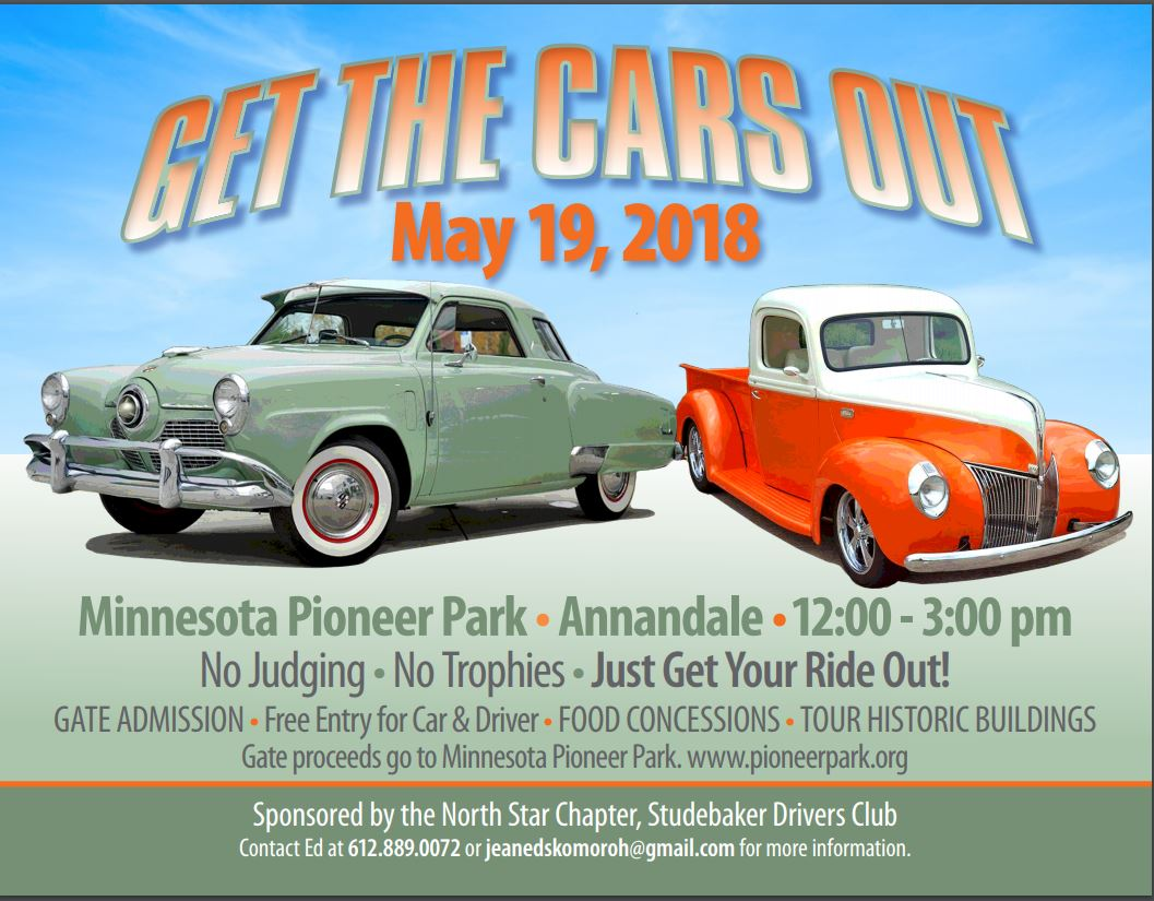 Minnesota Pioneer Park - Get the Cars Out, Classic Car Show